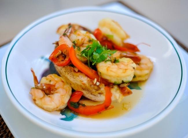 shrimp and chicken sautee