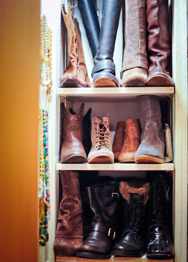 Winter Shoe Closet