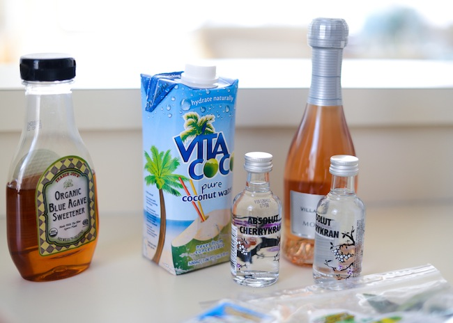 Ingredients - Coconut Water + Muddled Strawberry Cocktail by Fashionable Hostess