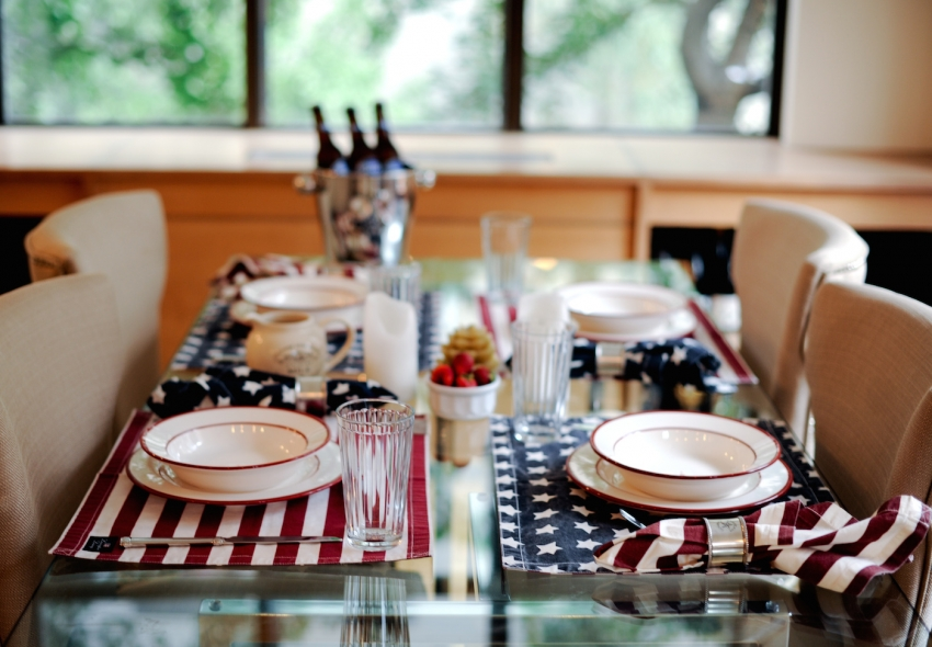 Fourth of July placemats