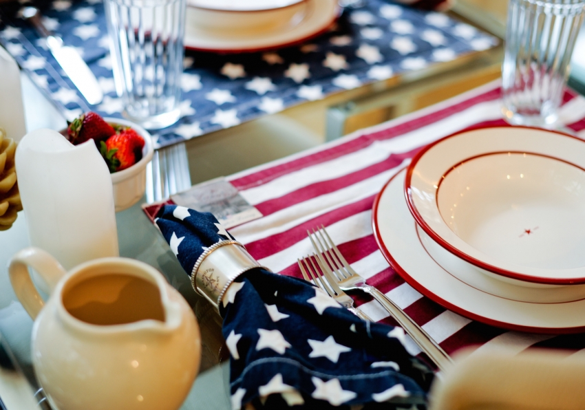 Star spangled napkins