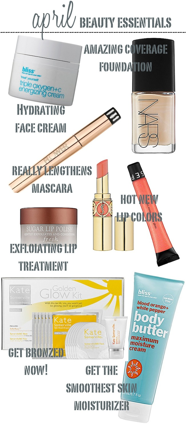 April Beauty Essentials