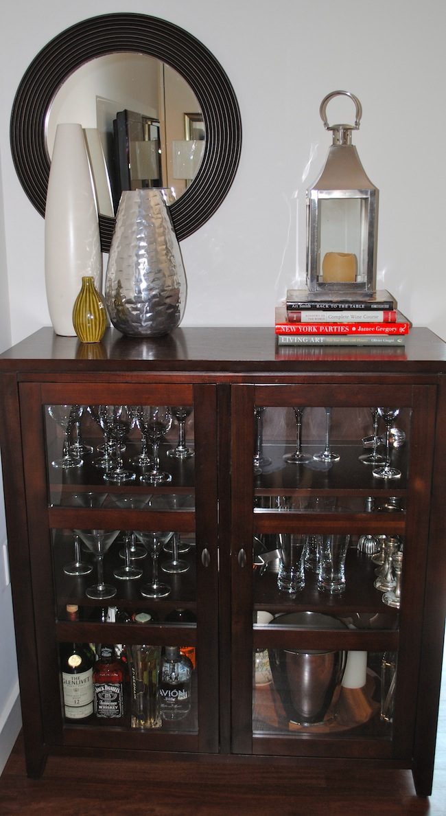 Bar Using A Liquor Cabinet Fashionable Hostess