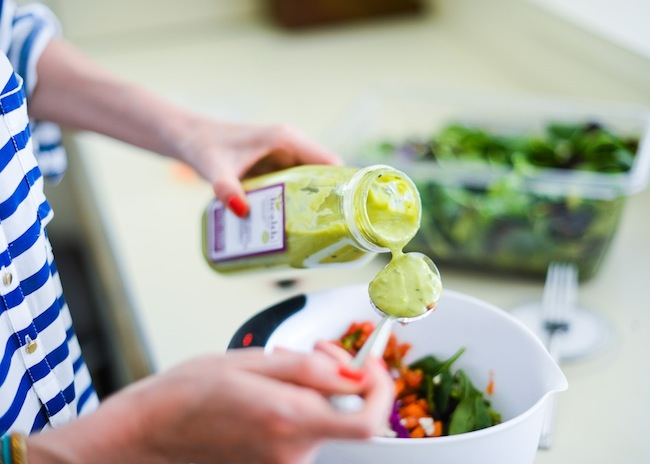 Organic Mesclun Salad with Avocado Vinaigrette