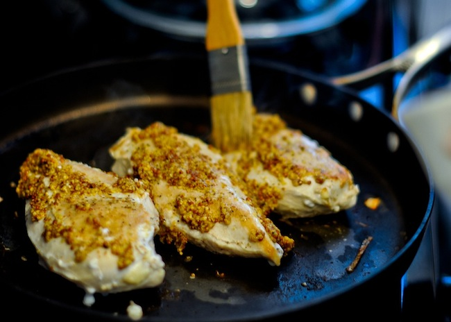 Pistachio & Dijon Crusted Chicken