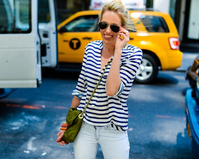 Style 2 Ways: Navy Stripes
