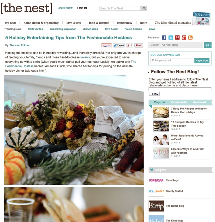 Featured 5 Hostessing Tips by Fashionable Hostess on TheNest.com