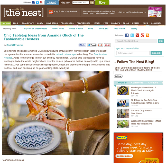 THE NEST FashionableHostess Feature