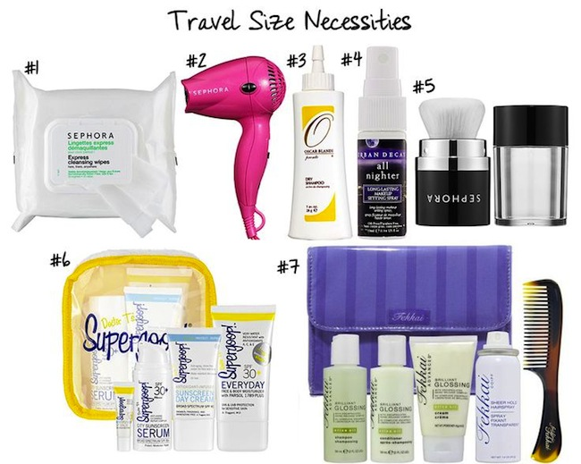 Travel-size necessities