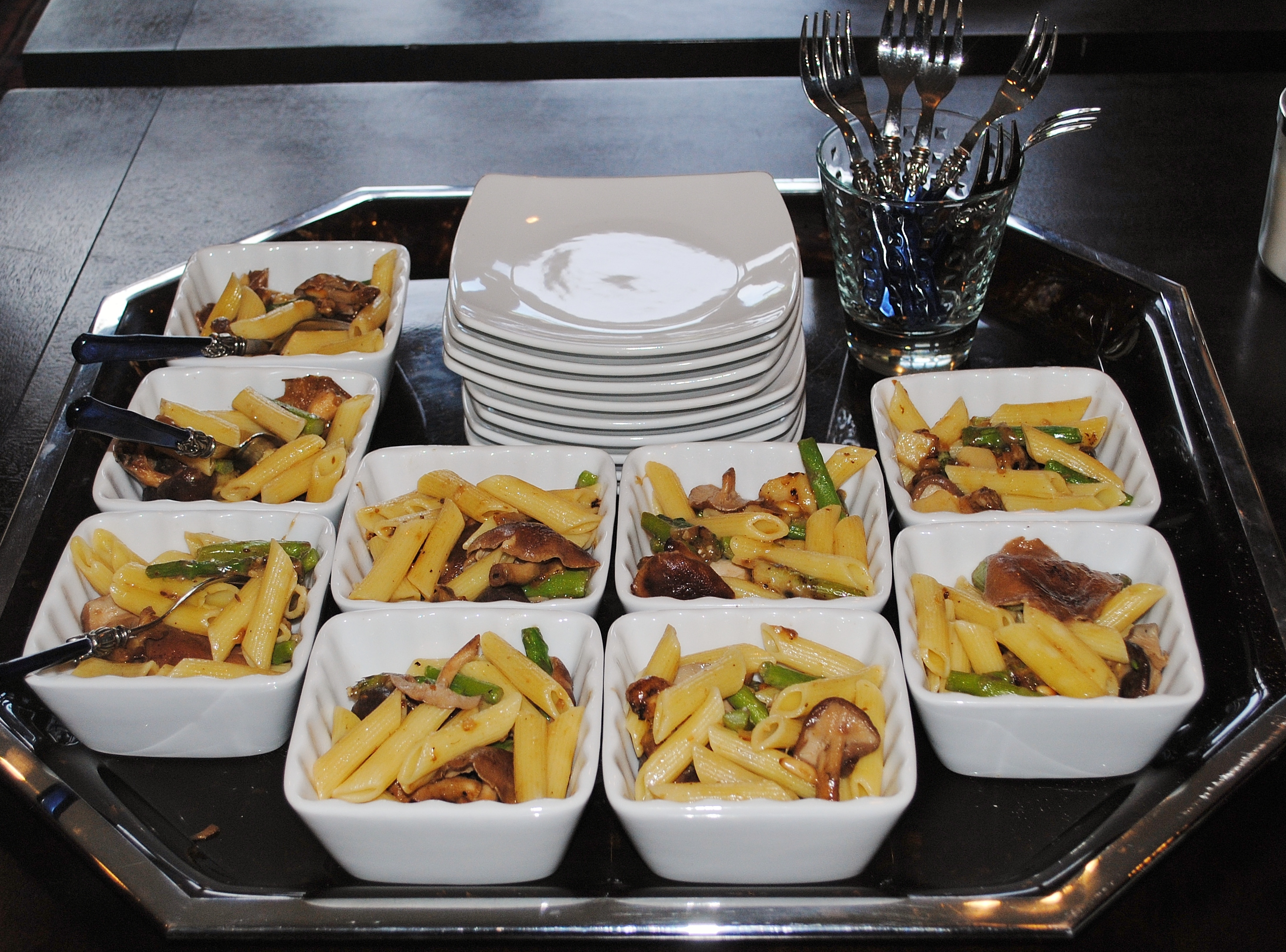 Penne Rigate with Asparagus & Wild Mushroom