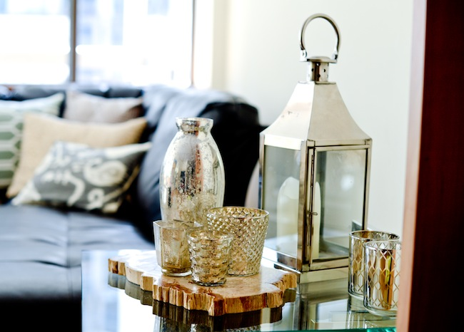 FH Decor Idea: Silver Side Table Accents