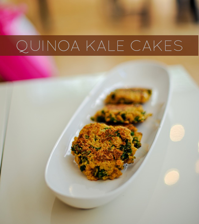 Kale And Quinoa Cakes Recipe — Dishmaps