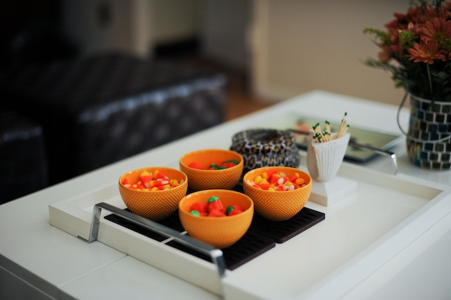 Halloween Candy Display for your Living Room