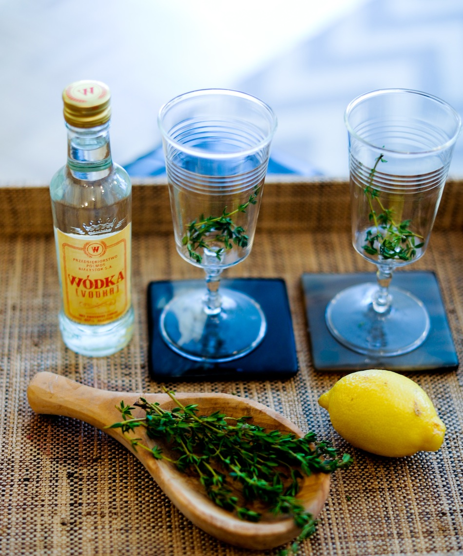 Wodka Vodka, Havens Kitchen Glasses and Raffia West Elm Tray