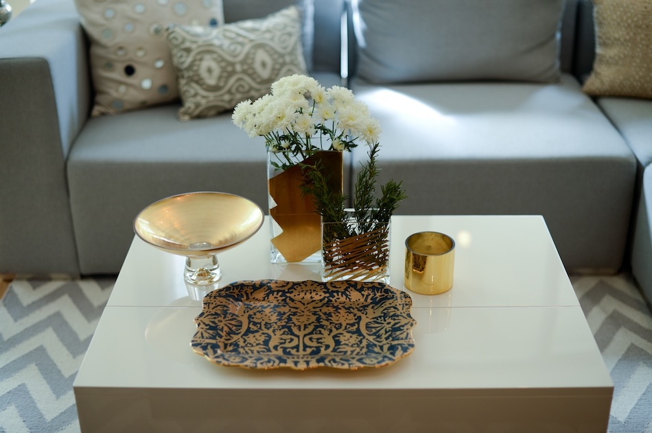 Gold coffee table story