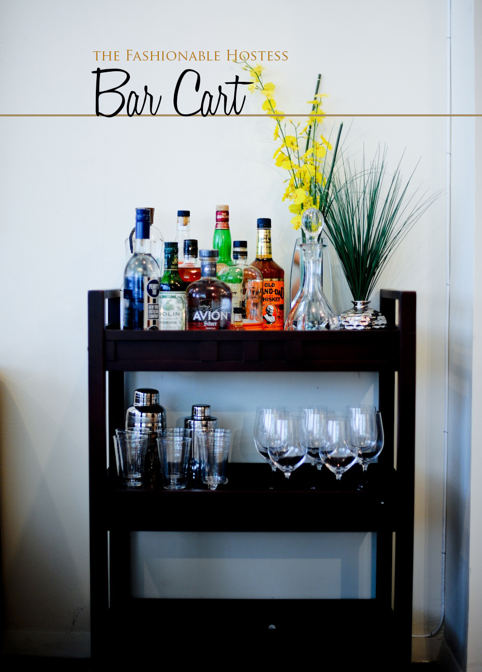 Everything You Need For A Perfectly Styled Bar Cart