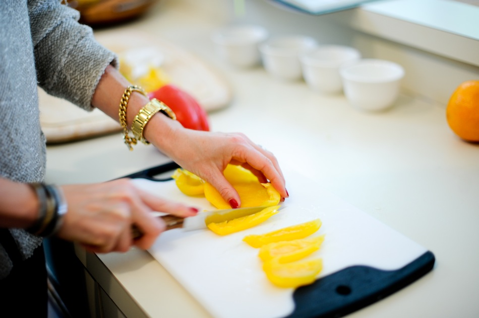 Slice Yellow Pepper  // FashionableHostess.com
