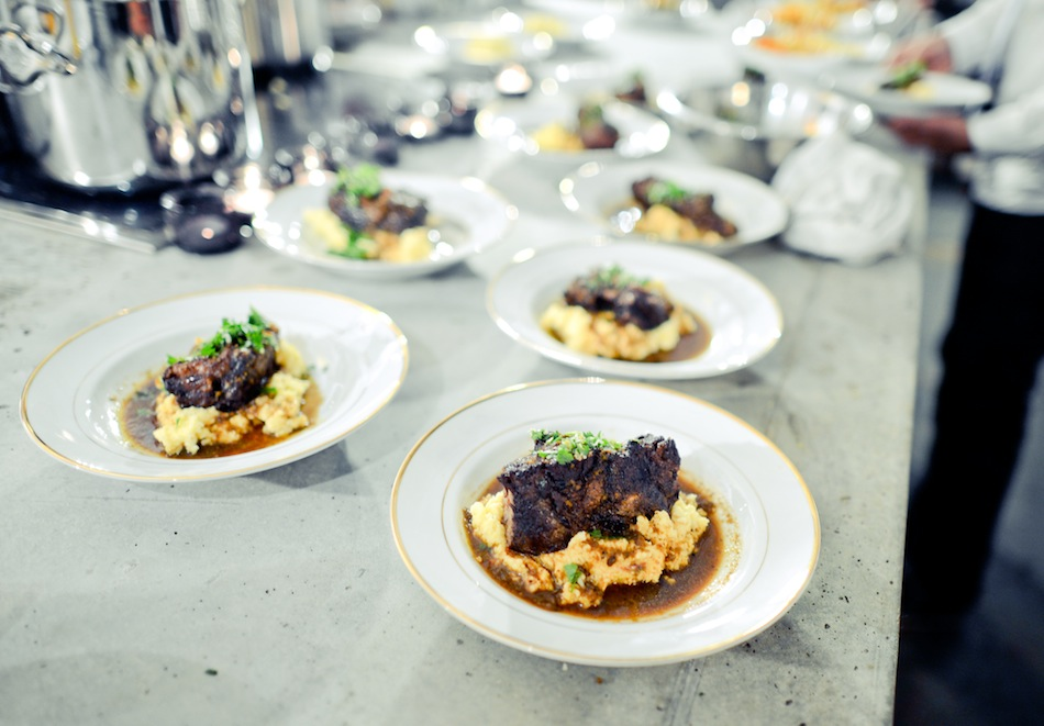 Braised Short Rib Dinner compliments of Kitchen Surfing // FashionableHostess.com