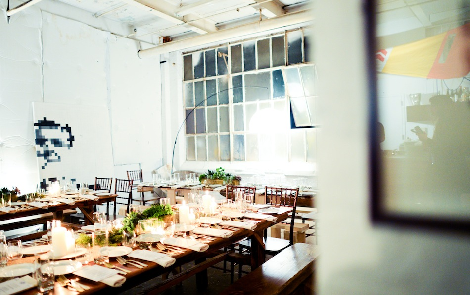 Dinner Tables at the Uproot #TheBlock Event // Styled by Fashionable Hostess