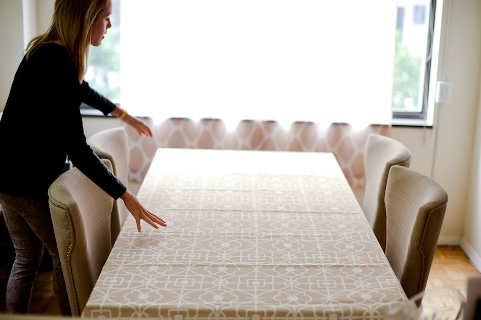 Laminated Fabric Table cloth // FashionableHostess.com