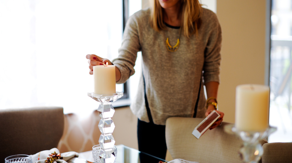 Crystal Candlesticks // FashionableHostess.com