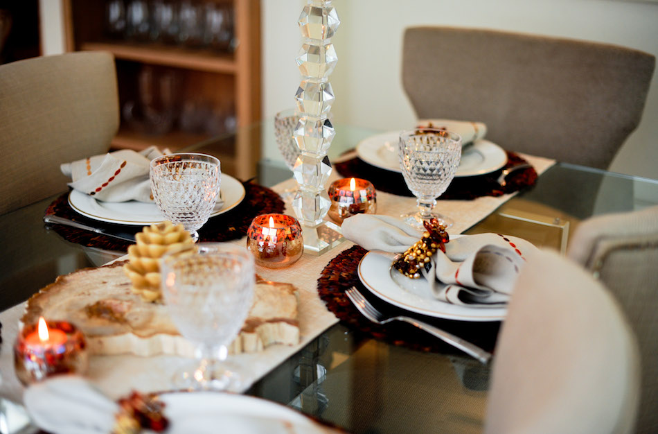 crystal stemware on NYE Table // FashionableHostess.com