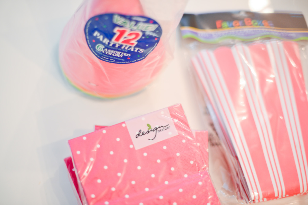 Pink Party Napkins and Party Hats