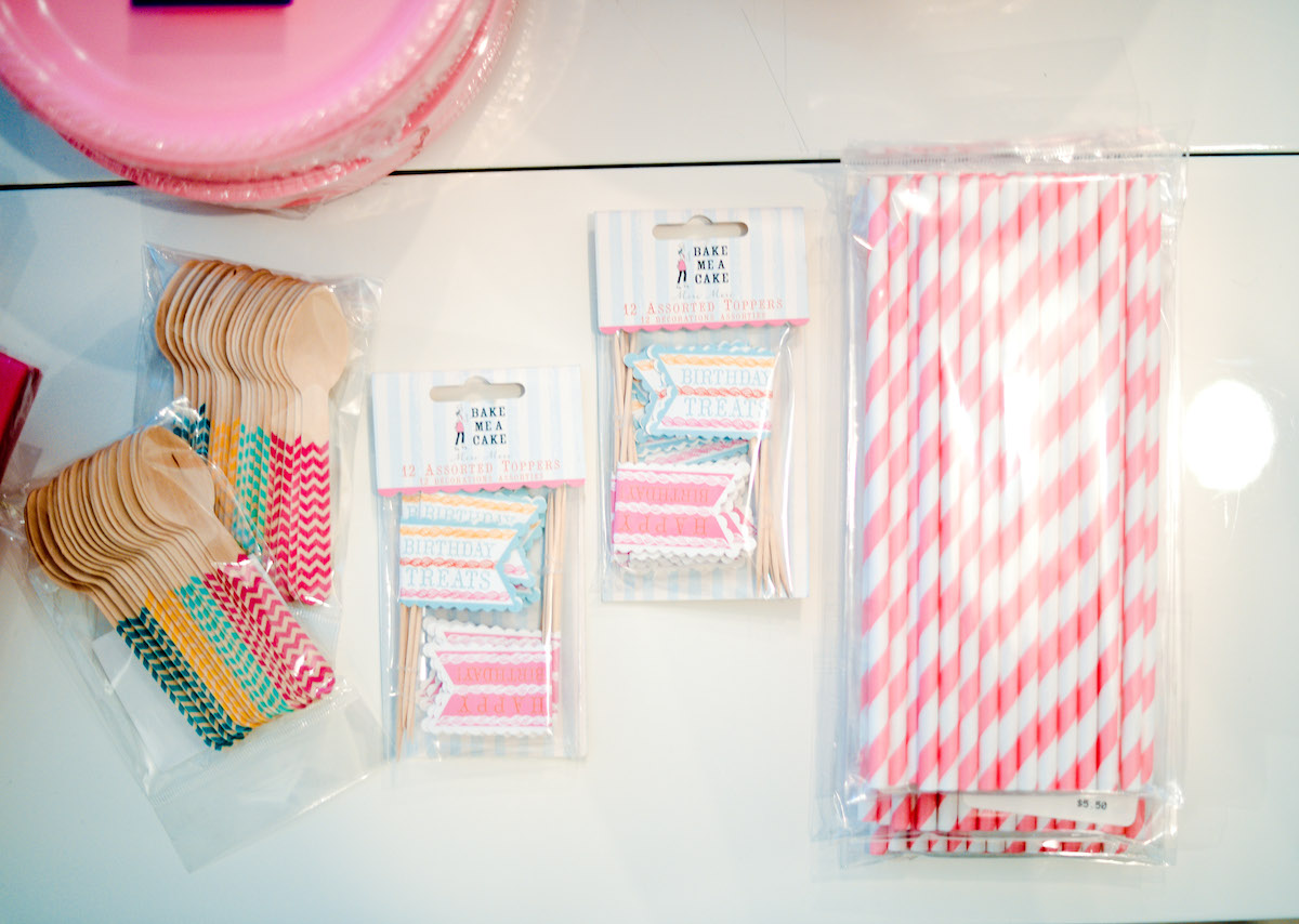 Pink Striped Straws - Baby's 1st Birthday Party // FashionableHostess.com
