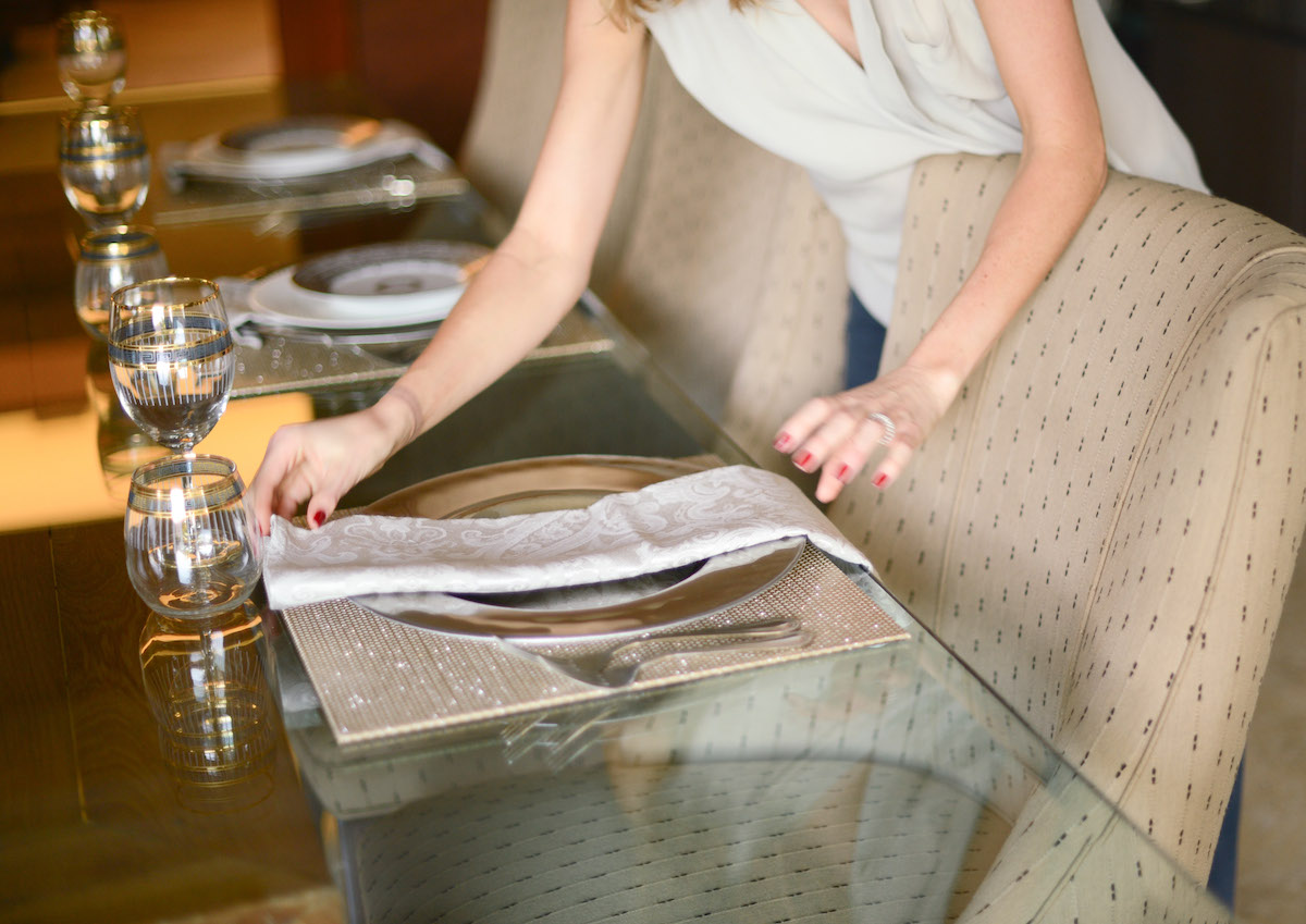 How to Fold your Dinner Napkin Step 3 // FashionableHostess.com