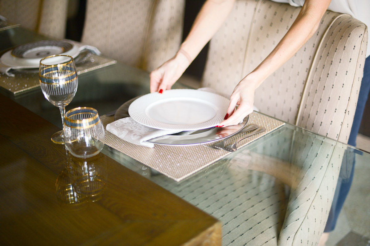 How to Fold your Dinner Napkin Step 6 // FashionableHostess.com