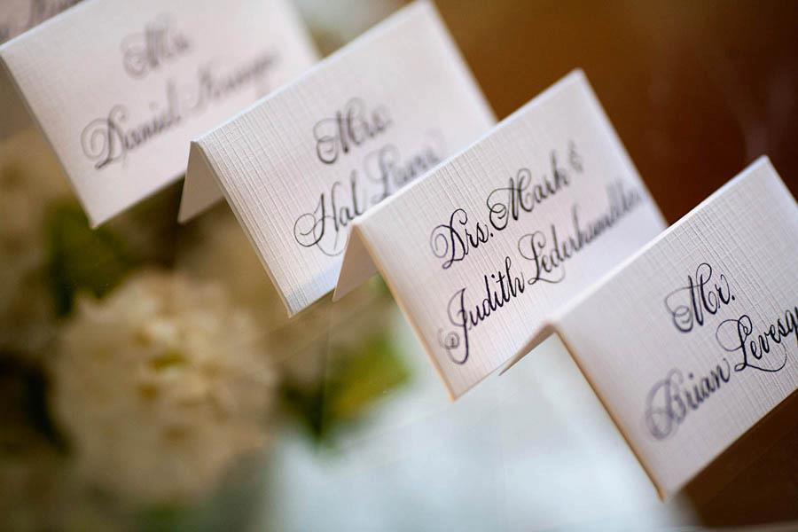 Wedding Name Cards Calligraphy