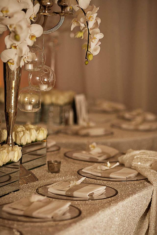 Wedding Table Settings - All White