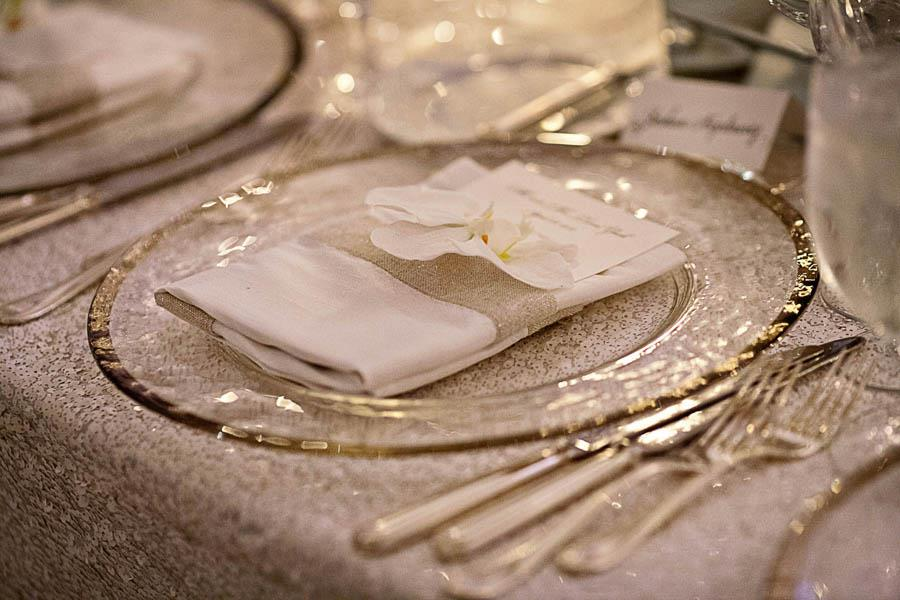 Wedding Table Setting - Sequin Tablecloths