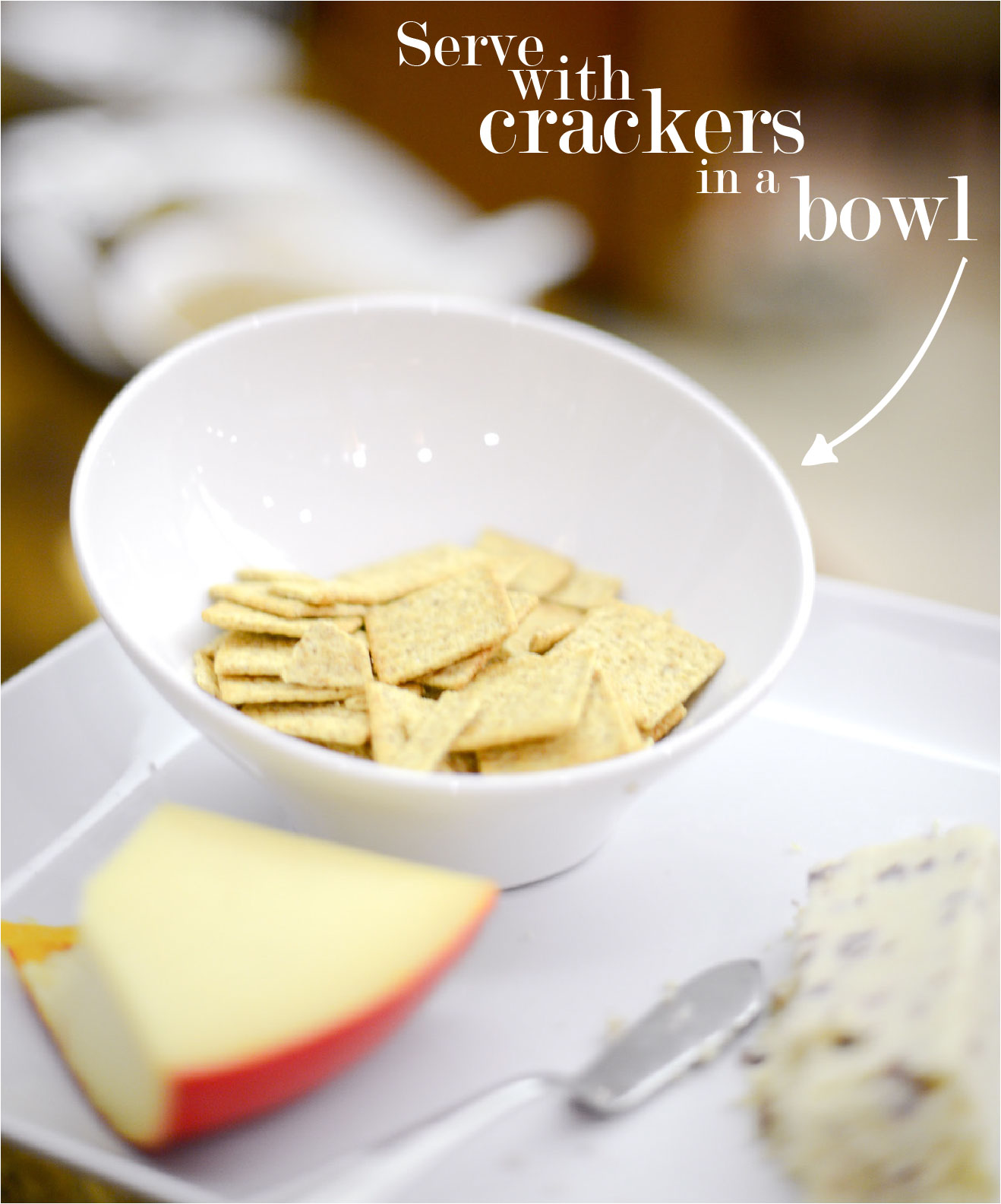 Cheese Plate with Crackers // FashionableHostess.com