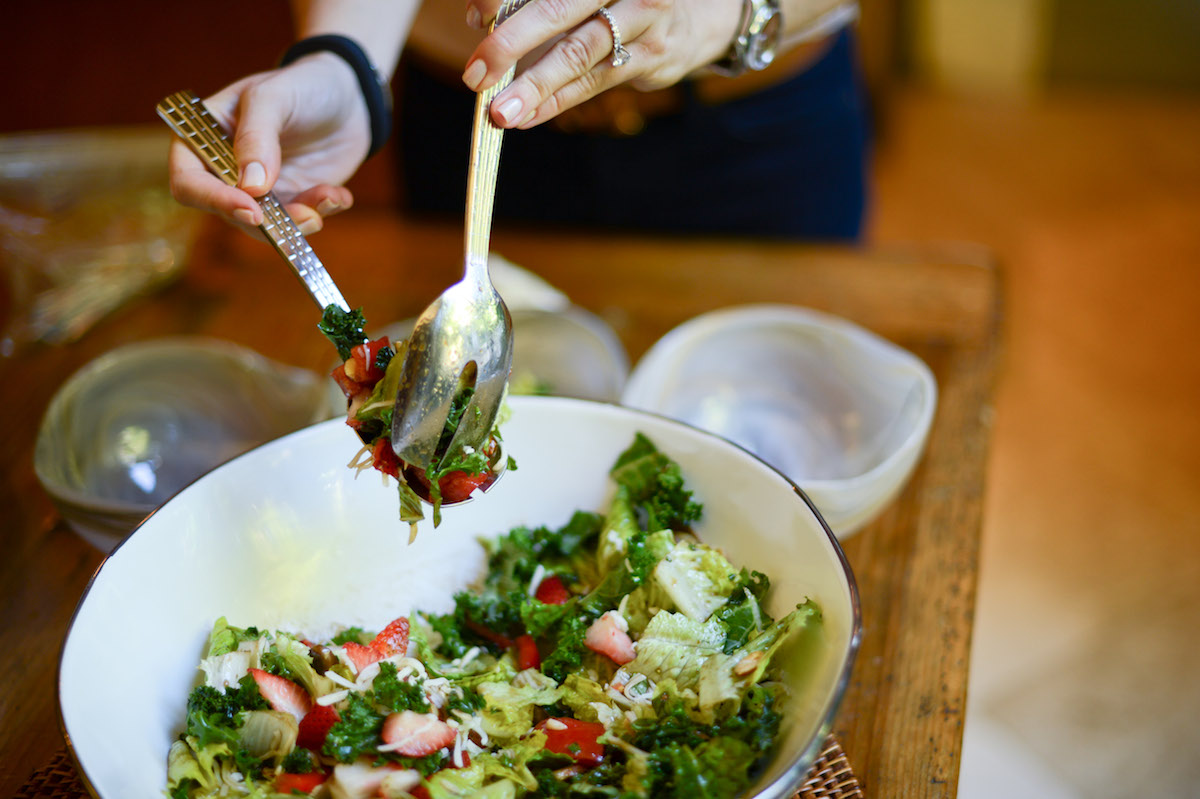 Toss your Fresh Salad // FashionableHostess.com