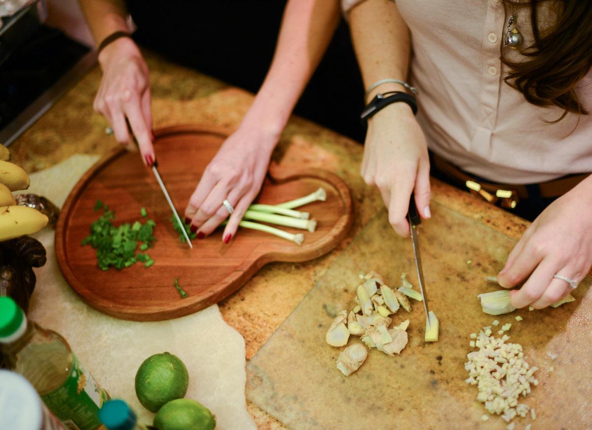 Chopped Scallion - Asian Glazed Salmon by FashionableHostess.com