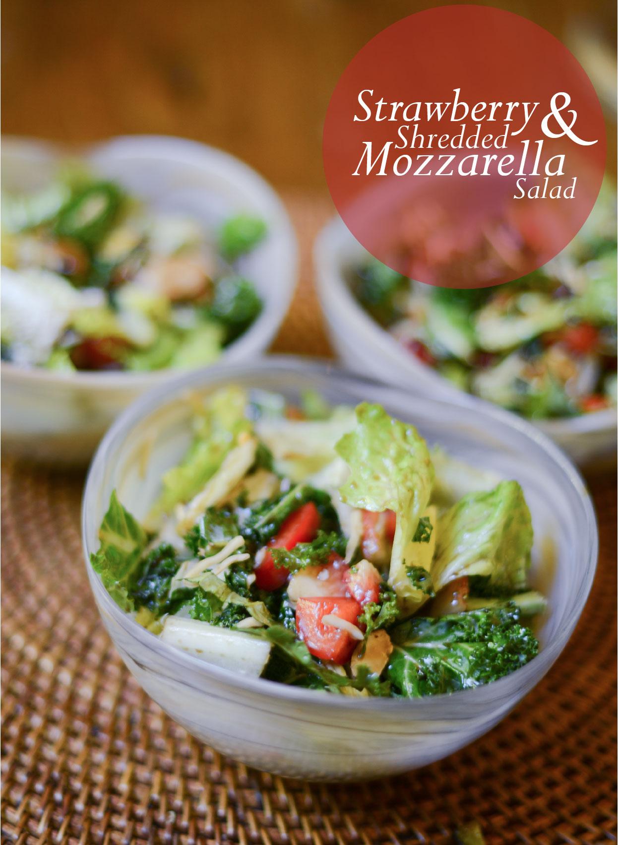 Strawberry & Mozzarella Salad by The Fashionable Hostess