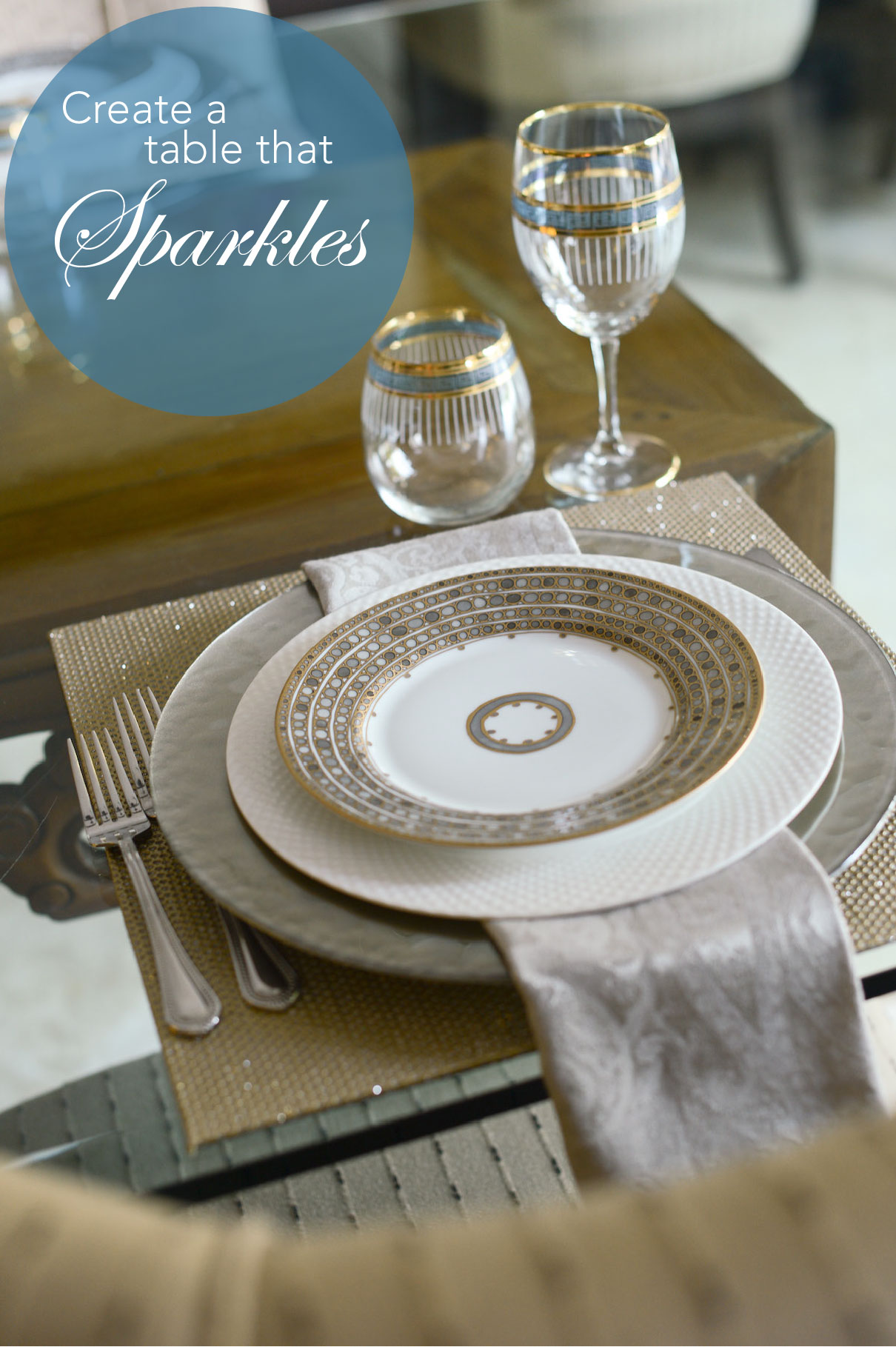 Create a Table that Sparkles // FashionableHostess.com