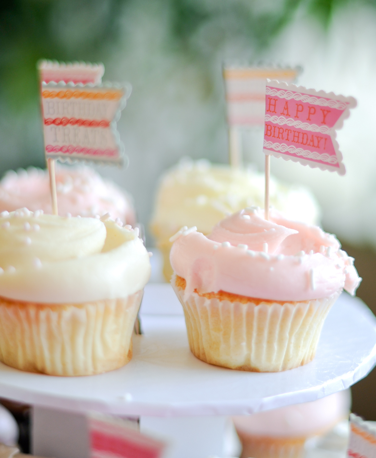 Happy Birthday Cupcake Toppers // FashionableHostess.com