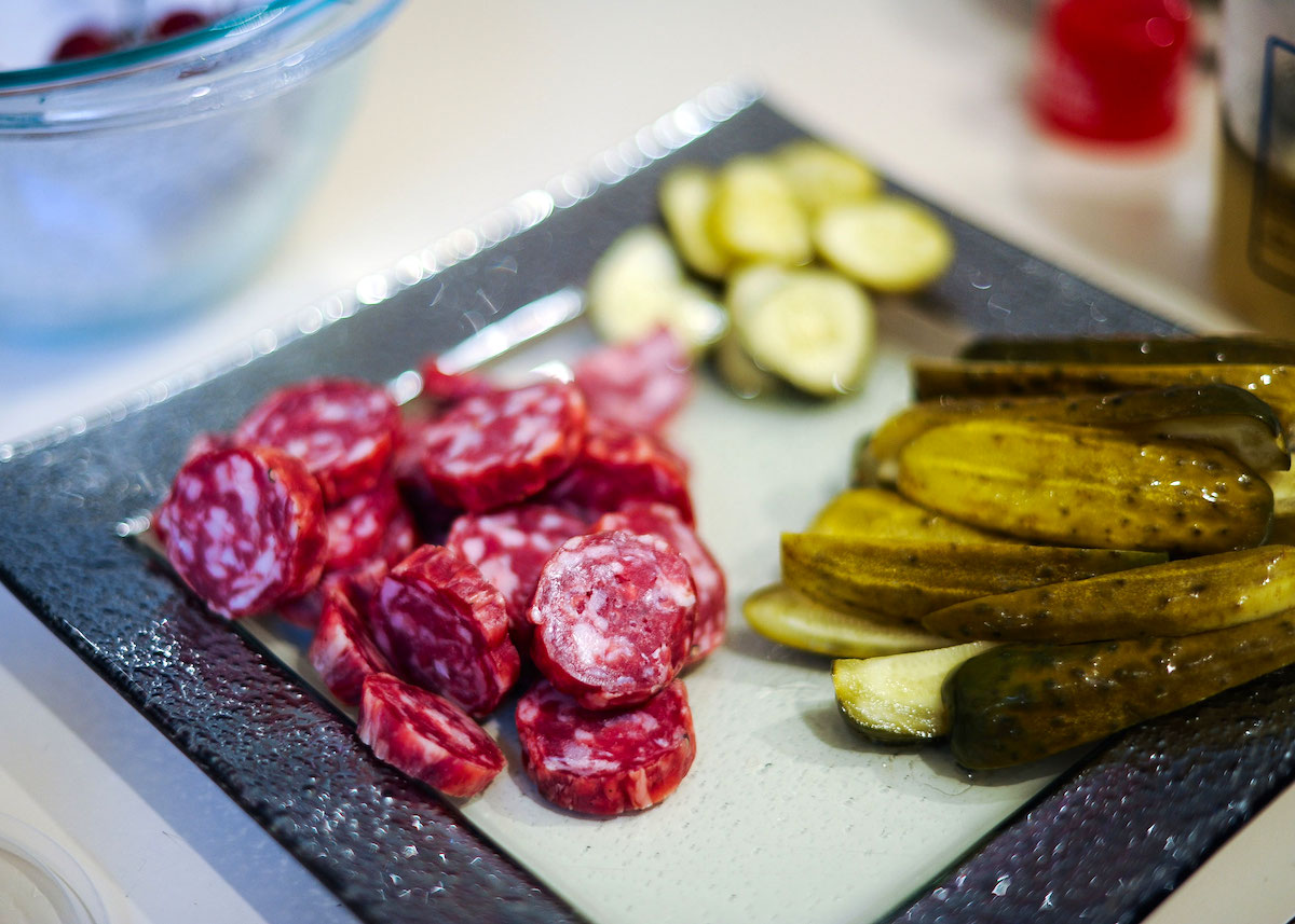Salami + Pickels Appetizer // FashionableHostess.com
