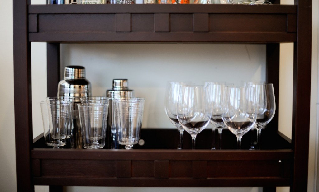 Bar Glasses, Wine Glasses, and Martini Shakers : everything you need in your bar by Fashionable Hostess