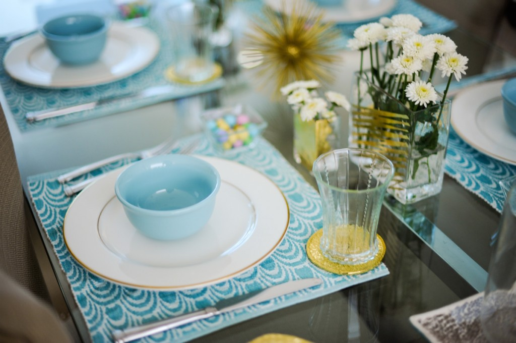 Spring and Easter Table by FashionableHostess.com