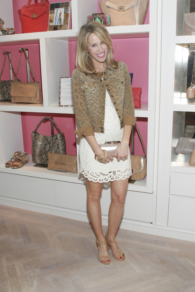Amanda Gluck Fashionable Hostess at Elaine Turner Store Opening NYC