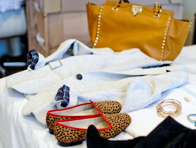 Blazer, Loafers, and Valentino :: FashionableHostess.com