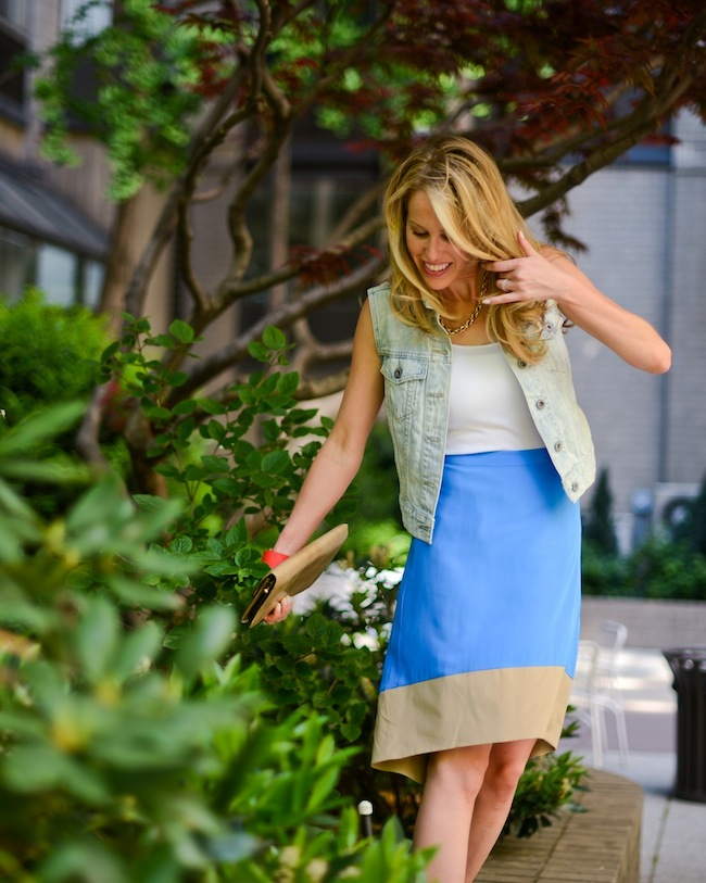Color block skirt by Annie Griffin :: Fashionable Hostess