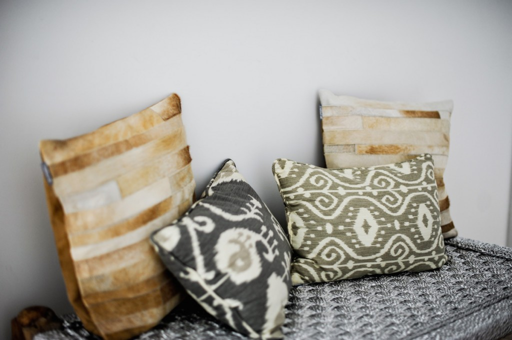 Neutral Pillows, tribal print pillows