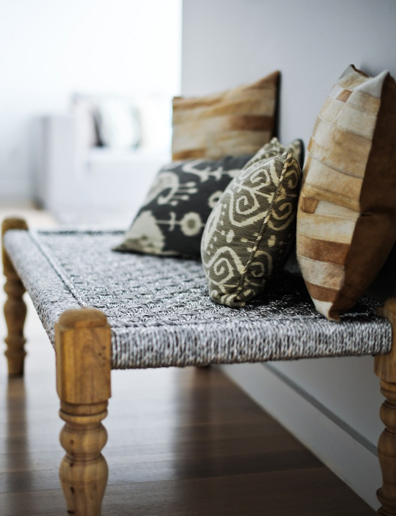 Indian design Woven Silver Bench by ShopHDB.com, Shop HDB.com