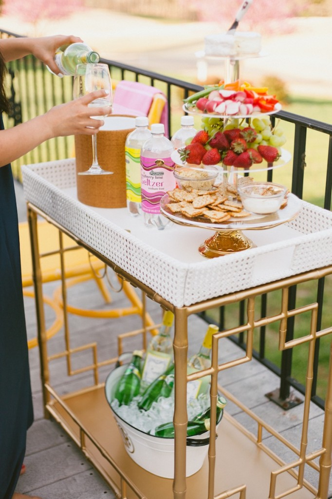 Society Social Bar Cart // FashionableHostess.com
