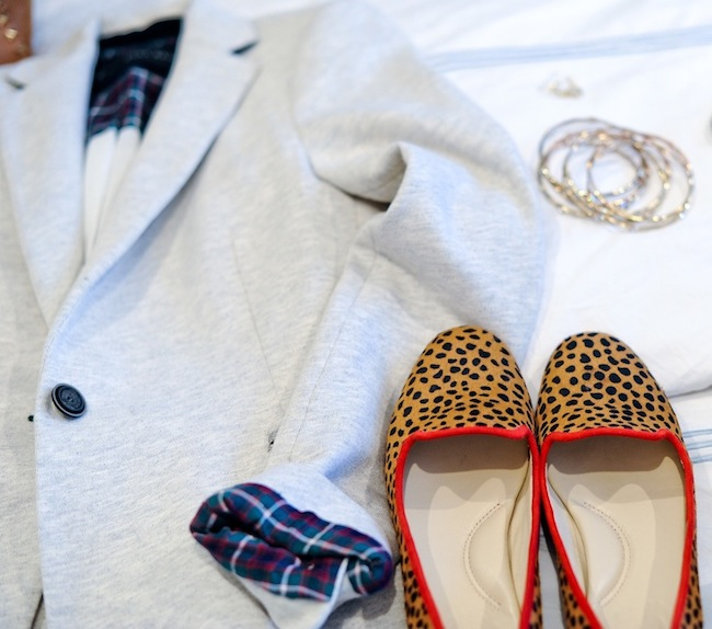 Leopard Loafers and Plaid Cuffs :: FashionableHostess.com