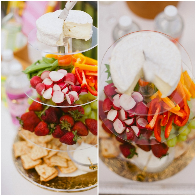Tiered Server with Cheese, Fruit and Veggies // FashionableHostess.com